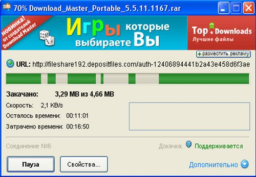 Скриншот к Download Master  Rus Portable 5.5.11.1167
