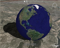 Скриншот к Google Earth 2009