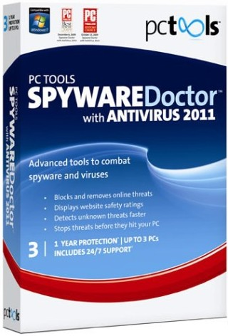 Скриншот к Spyware Doctor with AntiVirus 2011 v8.0.0.623